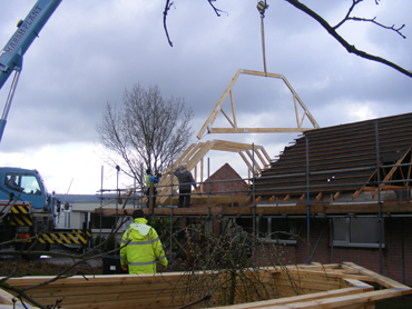 New bottom trusses in place