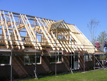 Start of dormer construction and infill rafters
